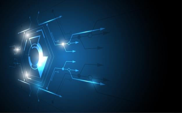Abstraktes technologiehintergrund high-teches kommunikationskonzept Premium Vektoren