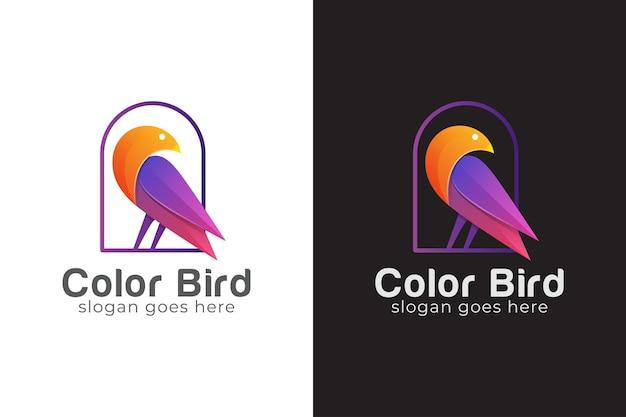 Abstraktes vogellogo, taube, schönheitstiertiersymbol Premium Vektoren
