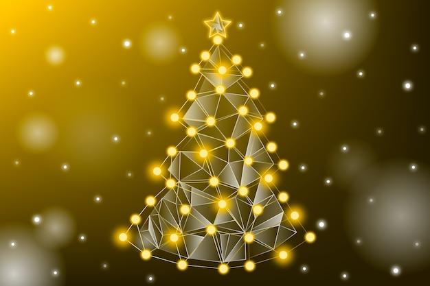 Abstraktes weihnachtsbaum-konzept Kostenlosen Vektoren