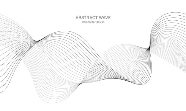 Abstraktes wellenelement für design. digitaler frequenzspur-equalizer. stilisierter strichgrafikhintergrund. Premium Vektoren