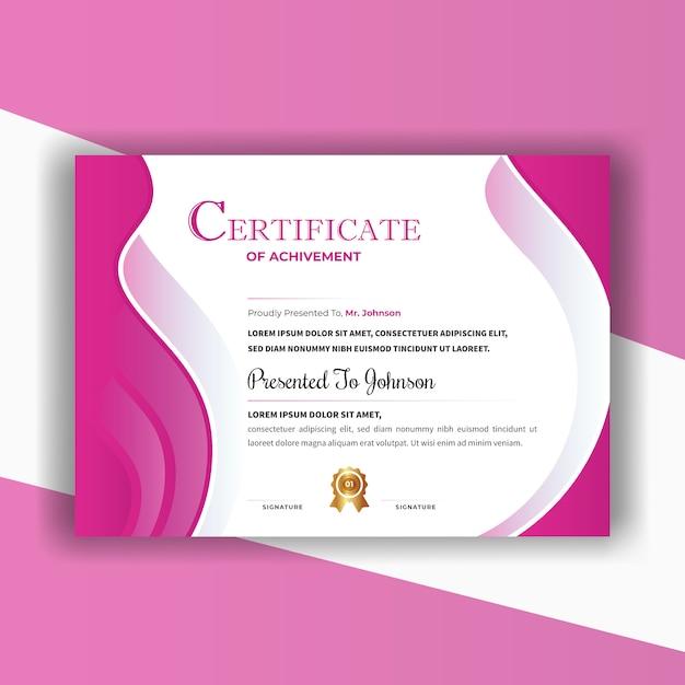 Abstraktes zertifikat Premium Vektoren