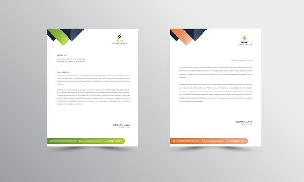 Abtract briefkopf-design moderne geschäftsbriefkopf-design-schablone Premium Vektoren