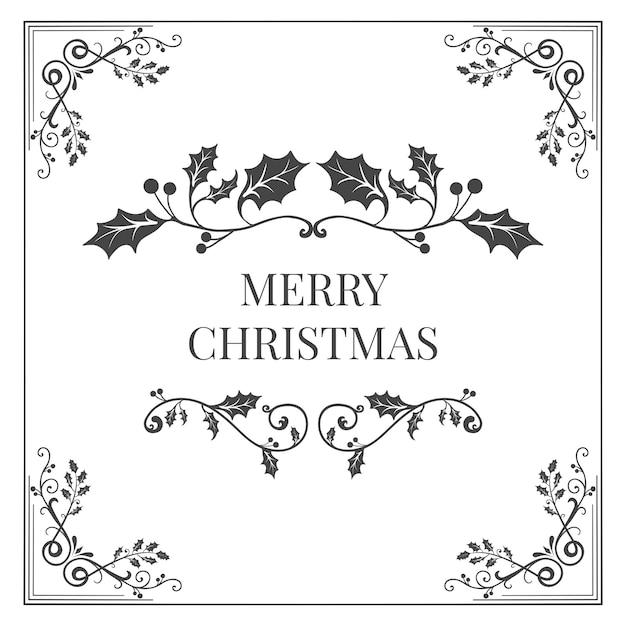 Abzeichen-designvektor der frohen weihnachten Kostenlosen Vektoren