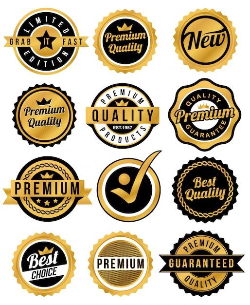 Abzeichen und band Premium Vektoren