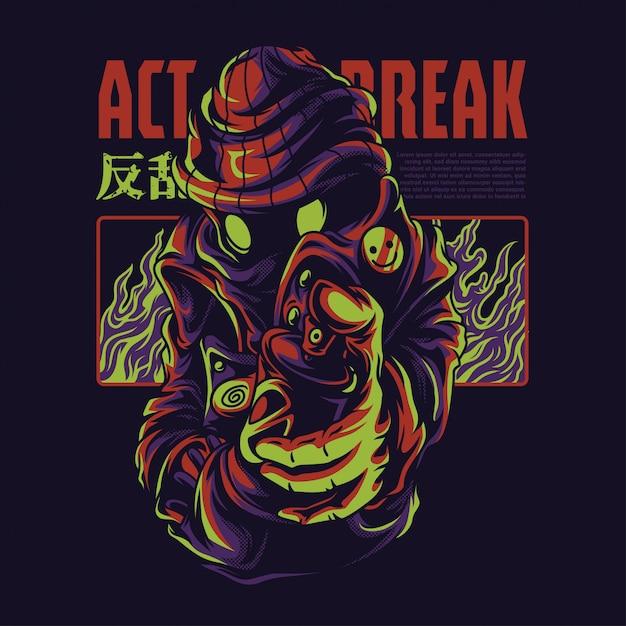 Act break illustration Premium Vektoren