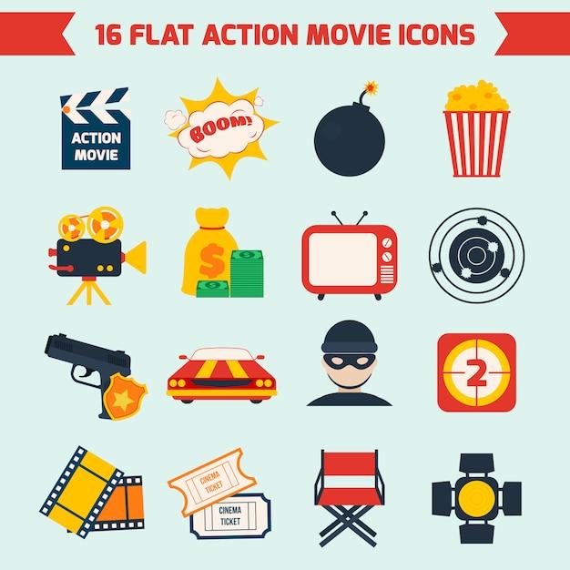 Action-filmset Premium Vektoren