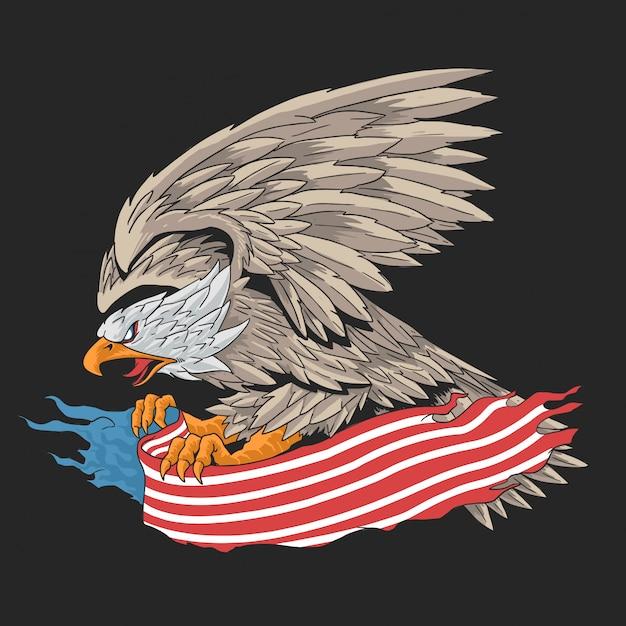 Adler amerikaner Premium Vektoren