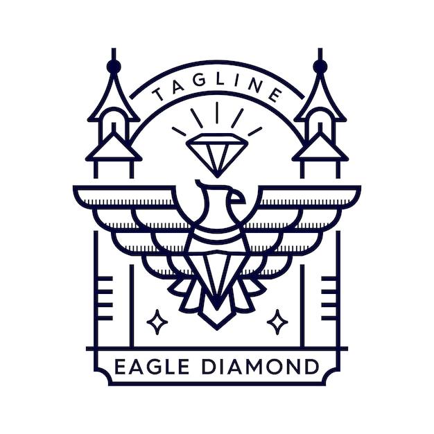 Adler diamant Premium Vektoren