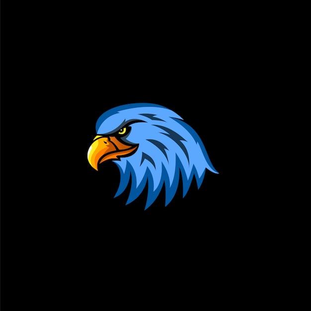 Adler kopf esport-logo Premium Vektoren