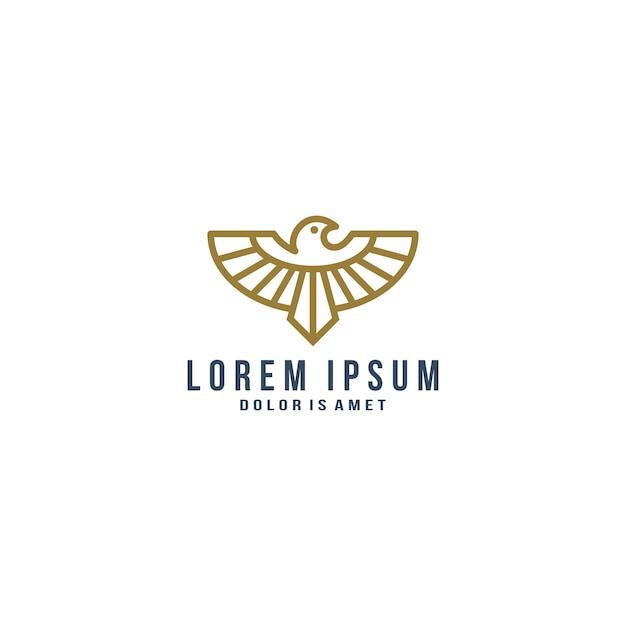 Adler Linie Kunst Logo Vorlage | Download der Premium Vektor