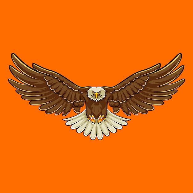 Adler-maskottchen Premium Vektoren