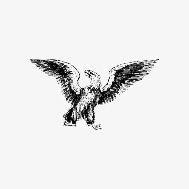 Adler mit ausgebreiteten flügeln Kostenlosen Vektoren