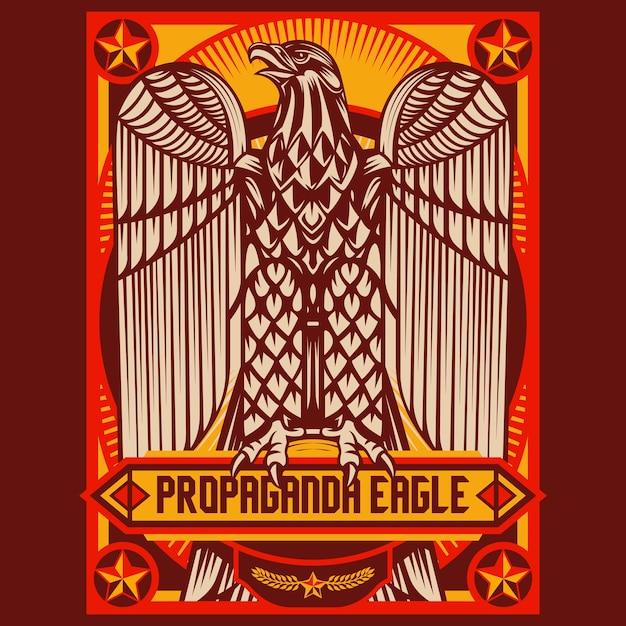 Adler-propagandaposter Premium Vektoren