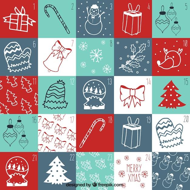 adventskalender von weihnachten zeichnungen download der. Black Bedroom Furniture Sets. Home Design Ideas
