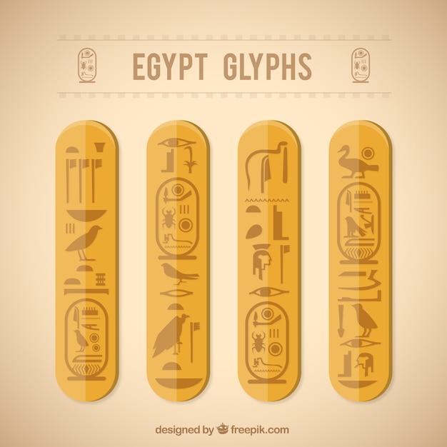 Ägypten glyphen Kostenlosen Vektoren