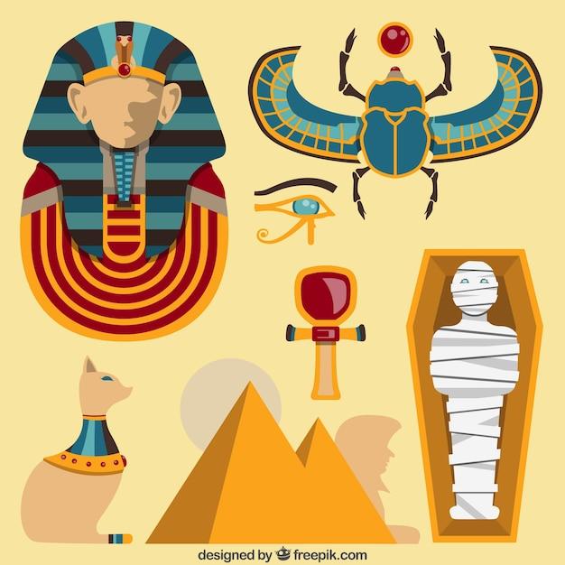 Ägypten kulturelle elemente Kostenlosen Vektoren