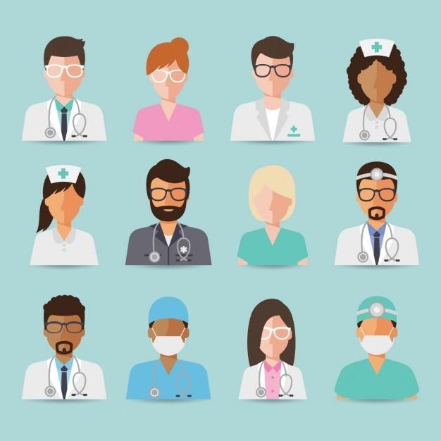 Ärzteteam design Kostenlosen Vektoren