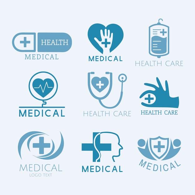 Ärztlicher dienst logos vektor festgelegt Kostenlosen Vektoren