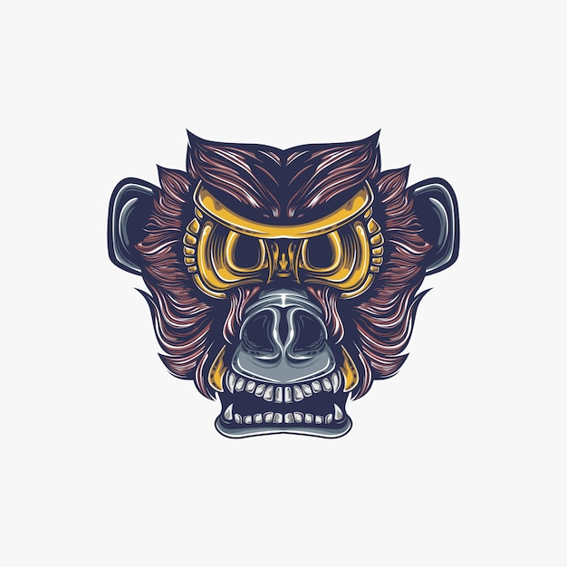 Affe kunstwerk illustration Premium Vektoren