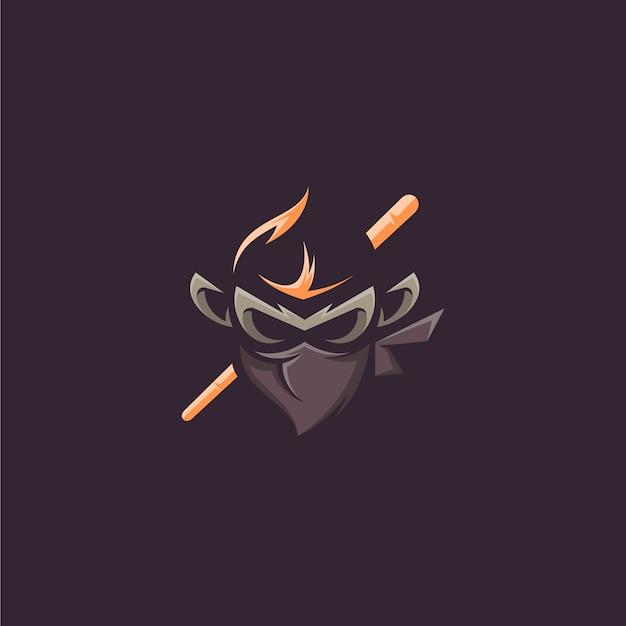 Affe ninja vektor design Premium Vektoren