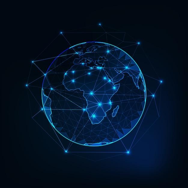Afrika auf dem planeten erde Premium Vektoren