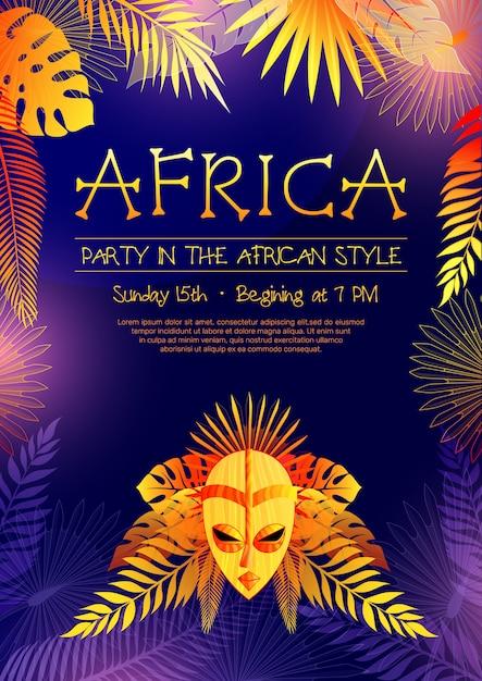 Afrikanisches art-party-plakat Kostenlosen Vektoren