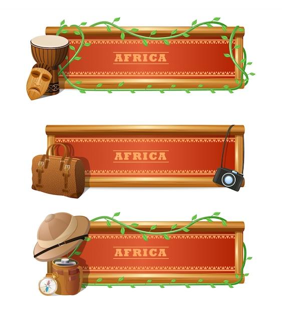Afrikanisches fahnen-set Kostenlosen Vektoren