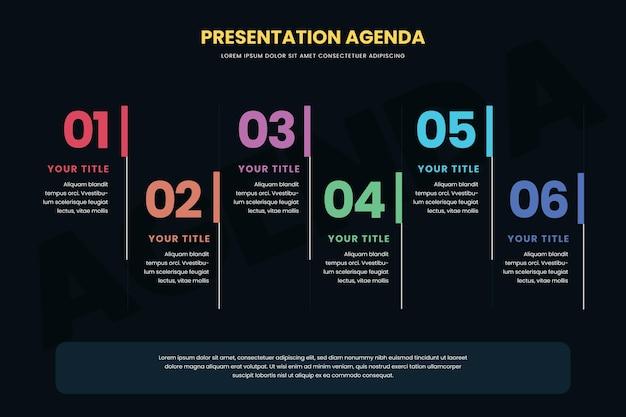 Agenda chart infografik Kostenlosen Vektoren