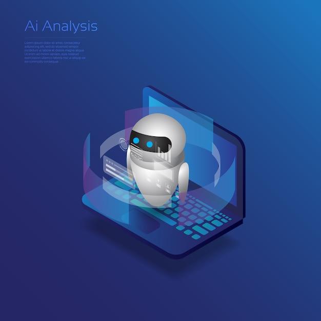 Ai-analyse Premium Vektoren