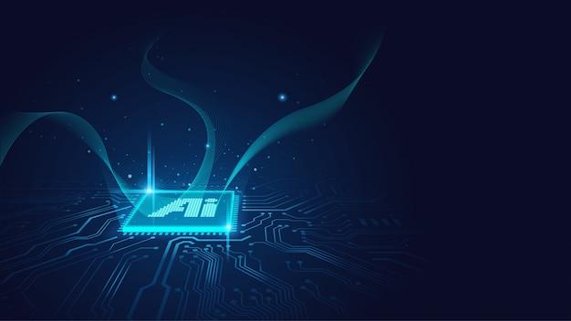Ai-chipsatz Premium Vektoren