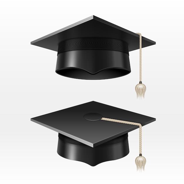 Akademische Abschlusskappen Der Universität Mit Quastenillustration