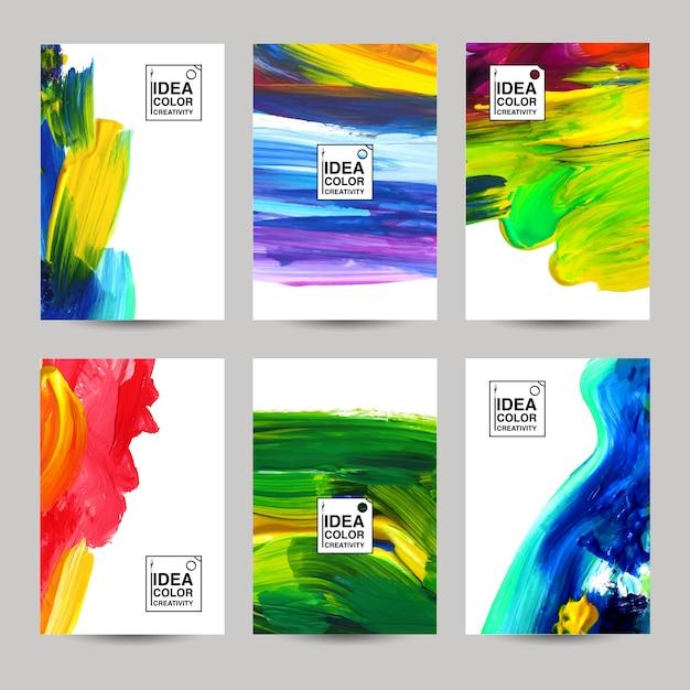 Akriles textur-banner-set Kostenlosen Vektoren