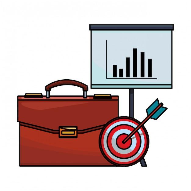 Aktenkoffer-finanzsymbol Premium Vektoren