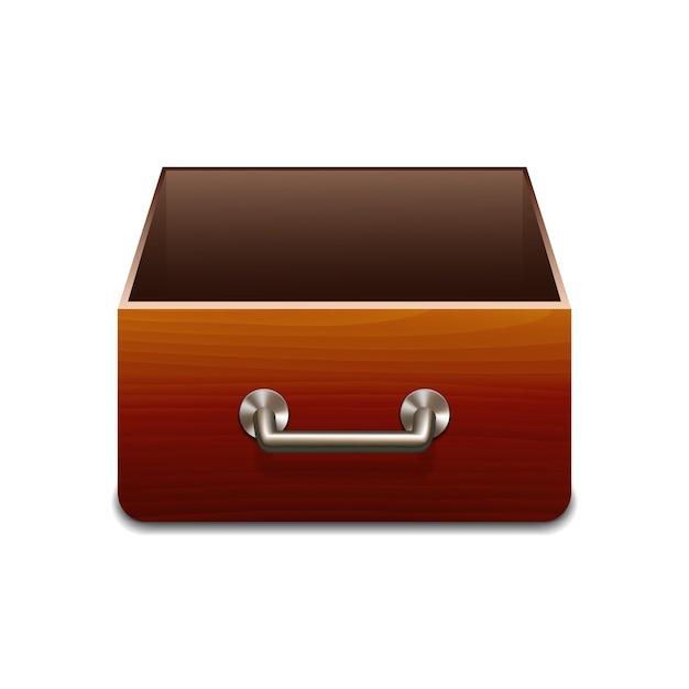 Aktenschrank aus holz für dokumente. Premium Vektoren
