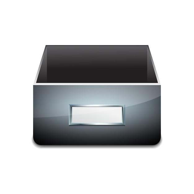 Aktenschrank für dokumente. Premium Vektoren
