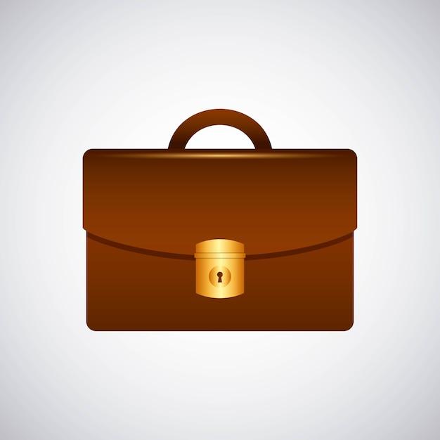 Aktentasche portfolio isoliert symbol Premium Vektoren
