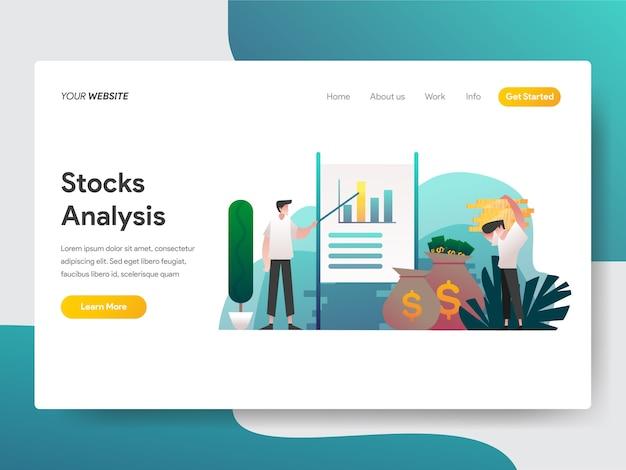 Aktienanalyse für webseite Premium Vektoren