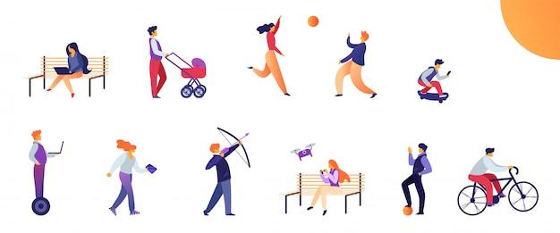 Aktivitäten für jugendliche im alltag festlegen. Premium Vektoren