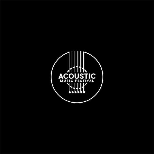 Akustisches logo Premium Vektoren