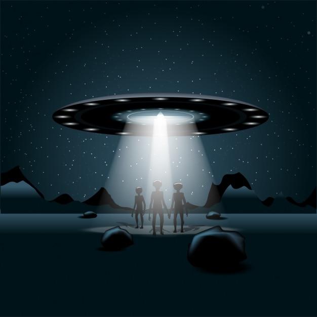 Alien-raumschiff Kostenlosen Vektoren