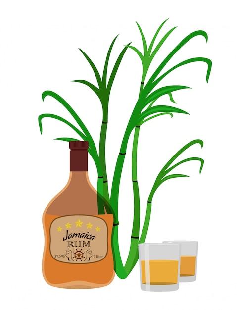 Alkoholisches getränk Premium Vektoren