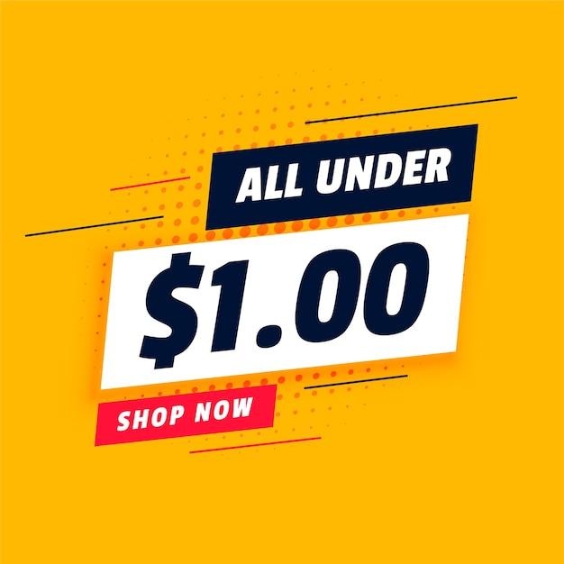 Alle unter dollar ein shopping sale banner Kostenlosen Vektoren