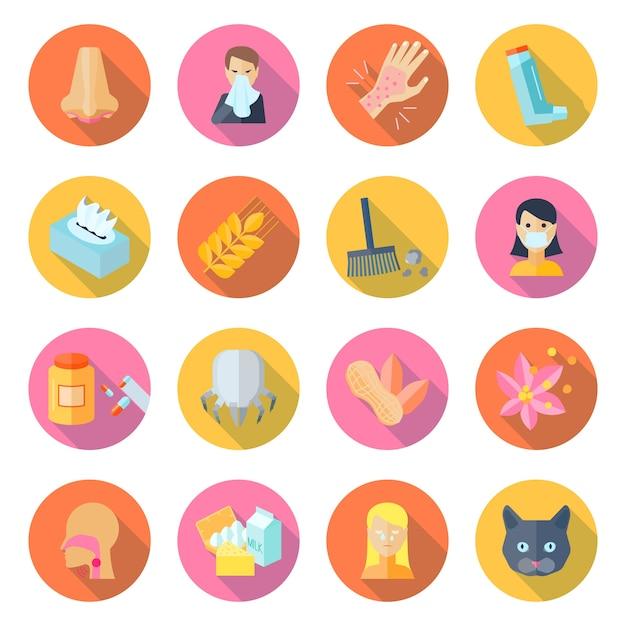 Allergie-symbol flach Kostenlosen Vektoren