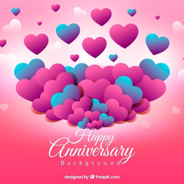 Alles Gute Zum Geburtstag Herzen Hintergrund Download Der