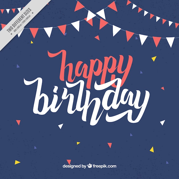 Alles Gute zum Geburtstag Jahrgang Hintergrund | Download der kostenlosen Vektor