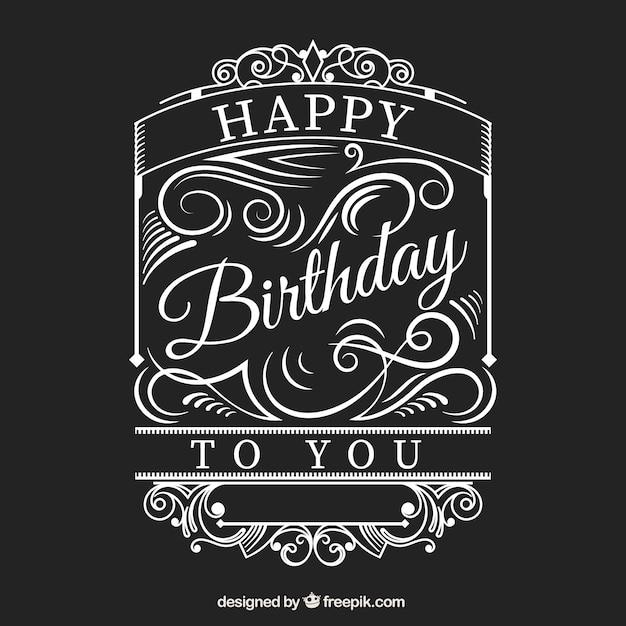 Alles Gute Zum Geburtstag Karte Im Retro Stil Download Der