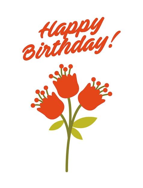 Alles Gute zum Geburtstag Karte mit Blumen Icons | Download der ...