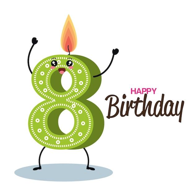 Alles Gute Zum Geburtstag Kerze Nummer Zeichen Download Der