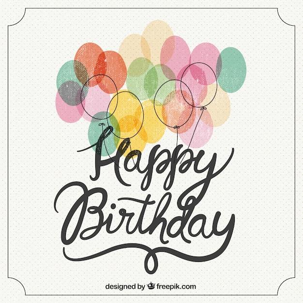 Alles Gute Zum Geburtstag Retro Schriftzug Download Der