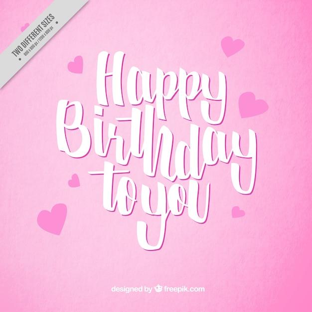 Alles Gute Zum Geburtstag Rosa Hintergrund Download Der
